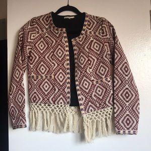 Tularosa Sante Fe fringe jacket red, size xs